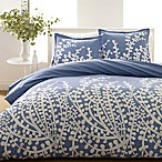 City Scene Branches 3-Piece Full/Queen Comforter Set in French Blue