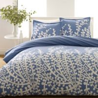 City Scene Branches 2-Piece Twin Comforter Set in French Blue