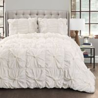 Lush Décor Bella 3-Piece King Comforter Set in White