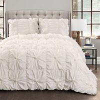 Lush Décor Bella 3-Piece Full/Queen Comforter Set in White