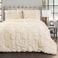 Lush Décor Bella 3-Piece Full/Queen Comforter Set in Ivory
