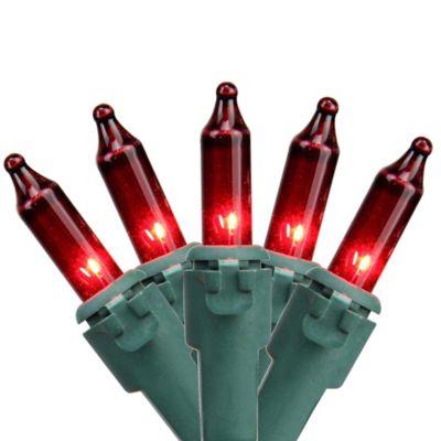 northlight 1125 foot 50 light mini string lights in red