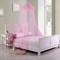 Casablanca Kids Pom Pom Bed Canopy in Pink