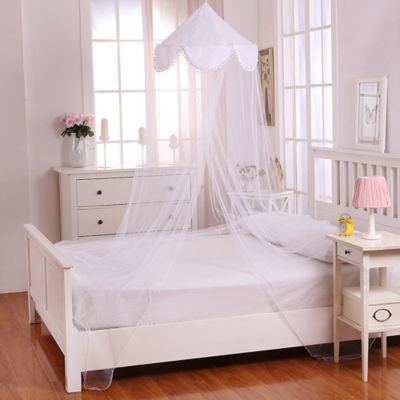Casablanca Kids Pom Pom Bed Canopy in White. Buy Bedroom Canopies from Bed Bath   Beyond