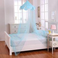 Casablanca Kids Pom Pom Bed Canopy in Blue