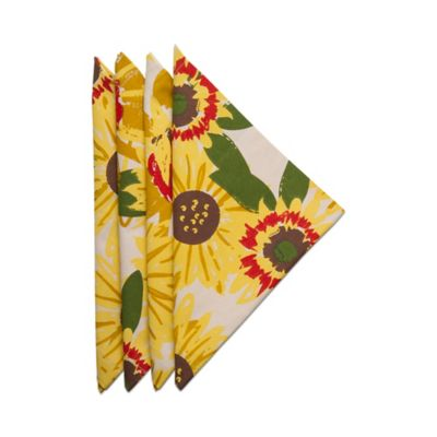 Sunflower Napkins In Yellow (Set Of 4)