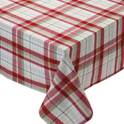 Lovely Design Imports Orchard Plaid 60 Inch X 84 Inch Oblong Tablecloth In Red