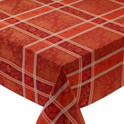Design Imports Pumpkin Vine 60 Inch X 84 Inch Oblong Tablecloth