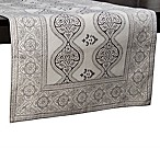 Henna Block Print 72-Inch Table Runner in Natural/Black
