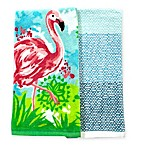 Summer Flamingo Kitchen Towels (Set of 2)