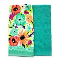 Summer Floral Kitchen Towels (Set of 2)