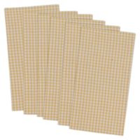 Design Imports Check Napkins in Yellow (Set of 6)
