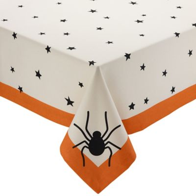 Design Imports Stars Halloween 60 Inch X 84 Inch Oblong Tablecloth