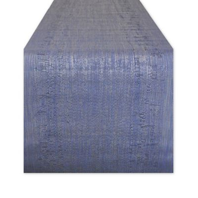 Lovely Design Imports 72 Inch Space Dyed Table Runner In Navy