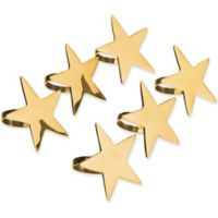 Design Imports Star Napkin Rings in Brass (Set of 6)