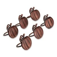 Design Imports Pumpkin Napkin Rings (Set of 6)