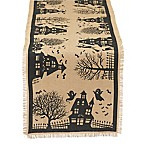 Design Imports Haunted House 74-Inch Table Runner