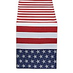 Design Imports Stars and Stripes 54-Inch Table Runner