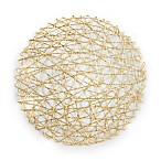 Design Imports Woven Paper Placemats in Gold (Set of 6)