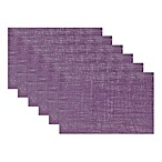 Design Imports Double Border Placemats in Eggplant (Set of 6)