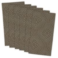 Design Imports Dots Buffet Napkins in Brown (Set of 6)