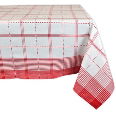 Design Imports Country Plaid 60 Inch X 120 Inch Oblong Tablecloth