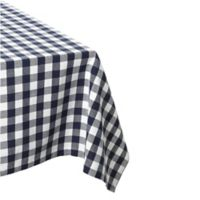 Design Imports Check 60-Inch x 84-Inch Oblong Tablecloth in Navy