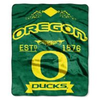 University of Oregon Raschel Throw Blanket