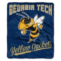Georgia Tech University Raschel Throw Blanket