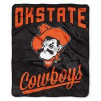 Oklahoma State University Raschel Throw Blanket