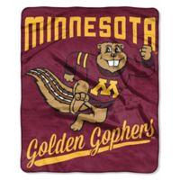 University of Minnesota Raschel Throw Blanket