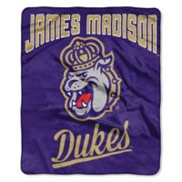 NCAA James Madison University Super Plush Raschel Throw Blanket