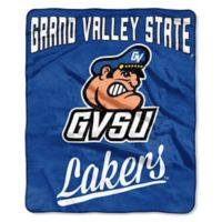 NCAA Grand Valley State University Super Plush Raschel Throw Blanket