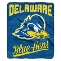 NCAA University of Delaware Super Plush Raschel Throw Blanket