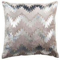 Safavieh Sophia Flamestitch 22-Inch Square Throw Pillow in Silver