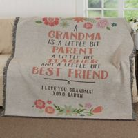 My Grandma, My Friend Woven Throw Blanket