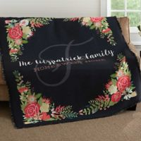 Posh Floral Woven Throw Blanket