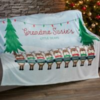 Reindeer Family Character Fleece Blanket