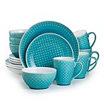 Euro Ceramica Palma 16-Piece Dinnerware Set in Teal
