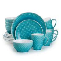 Euro Ceramica Palma 16-Piece Dinnerware Set in Teal