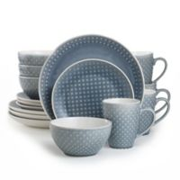 Euro Ceramica Palma 16-Piece Dinnerware Set in Grey