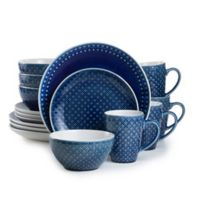 Euro Ceramica Palma 16-Piece Dinnerware Set in Blue
