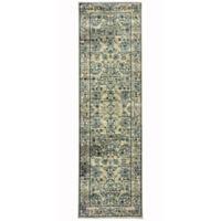 Oriental Weavers Linden Floral Geo 2-Foot 3-Inch x 7-Foot 6-Inch Runner in Beige