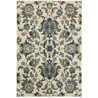 Oriental Weavers Linden Floral 3'10 x 5'5 Indoor/Outdoor Area Rug in Ivory