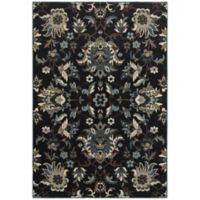 Oriental Weavers Linden Floral 9'10 x 12'10 Indoor/Outdoor Area Rug in Navy
