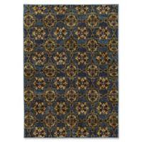 Oriental Weavers Andorra Floral Medallion 8'6 x 11'7 Area Rug in Blue