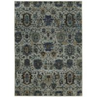 "Andorra 8'6"" x 11'7"" Woven Area Rug in Blue"