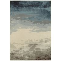 Oriental Weavers Linden Abstract 3-Foot 10-Inch x 5-Foot 5-Inch Area Rug in Blue