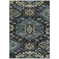 Oriental Weavers Linden Tribal 3-Foot 10-Inch x 5-Foot 5-Inch Area Rug in Navy