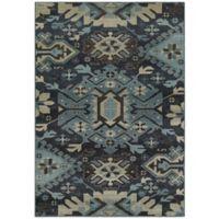 Oriental Weavers Linden Tribal 6-Foot 7-Inch x 9-Foot 6-Inch Area Rug in Navy